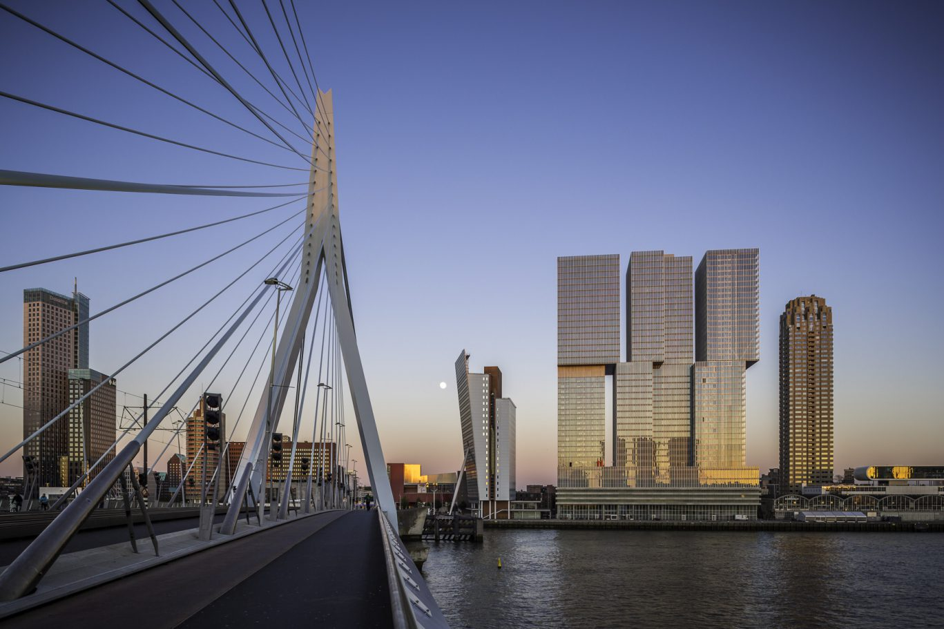 Rotterdam Skyline from Erasmus Bridge