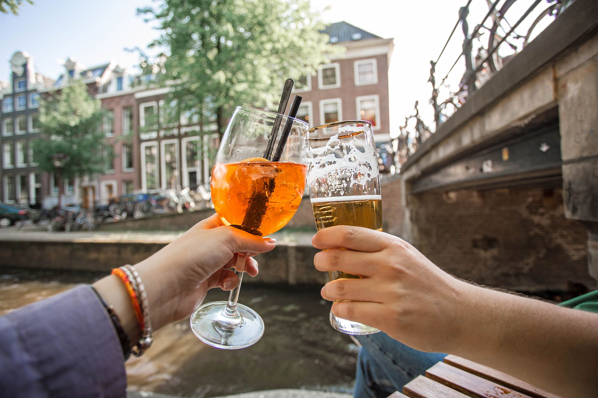 Drinks on the canal