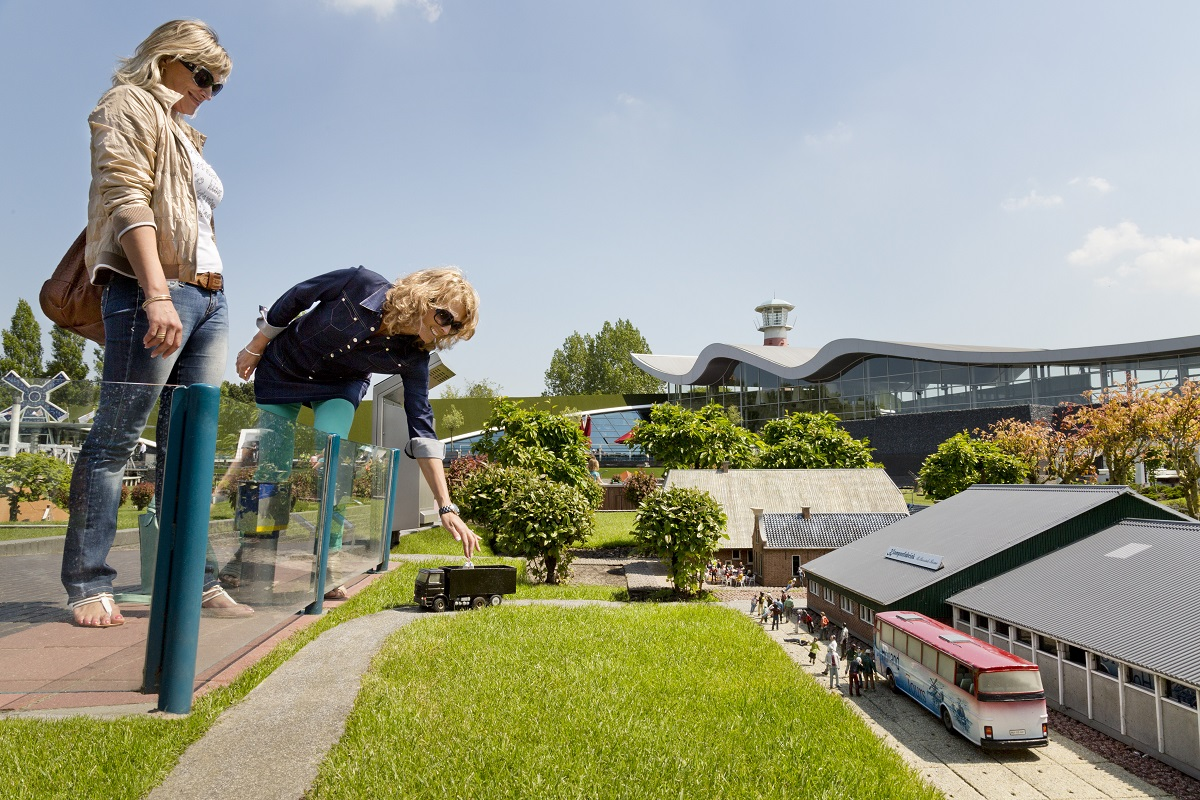 visitors in Madurodam, the interactive miniature park in The Hag