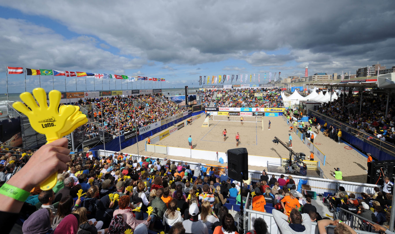 sportive events at the The Hague Beach Stadium on the the beach